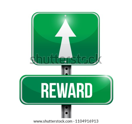 reward sign destination. Vector Illustration. isolated over a white background