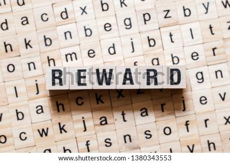Reward word concept #1380343553