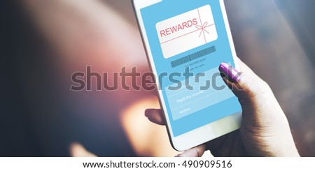 Rewards Coupon Gift Certificate Shopping Concept #490909516