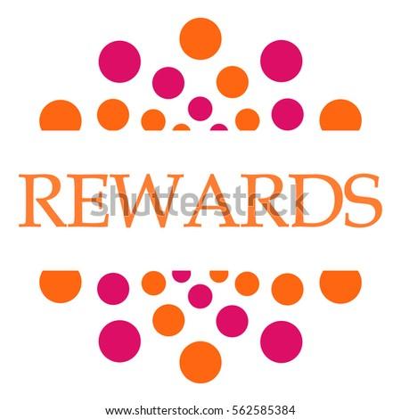 Rewards Pink Orange Dots Circular  Photo stock ©