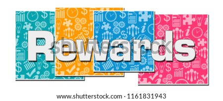 Rewards text written over colorful background. Photo stock ©