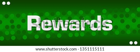 Rewards text written over green background. Photo stock ©