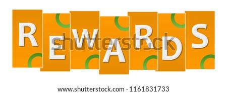 Rewards text written over orange green background. Photo stock ©