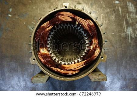 Rewinding An Electric Motor Stok fotoğraf ©