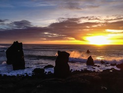 Reykjanes coast in Iceland