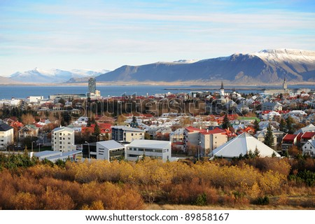 Reykjavik Iceland - stock photo
