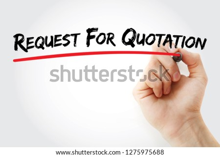 RFQ - Request For Quotation acronym, business concept background #1275975688