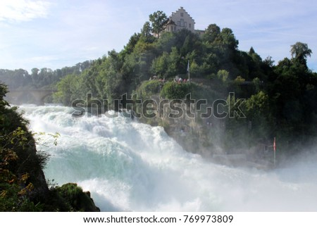 Rheinfall waterfalls in Switzerland #769973809