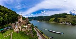 Rheinstein Castle, Trechtingshausen, Unesco World Heritage Site Upper Middle Rhine Valley, Rhineland-Palatinate, Germany