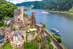 Rheinstein Castle, Trechtingshausen, Unesco World Heritage Site Upper Middle Rhine Valley, Rhineland-Palatinate, Germany