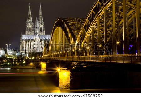 Rhine River and Dom of Cologne, Germany