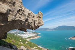 Rhino Rock is a famous attraction and place in the beautiful view of Che Pau Teng-Rhino Rock in Stanley, Hong Kong