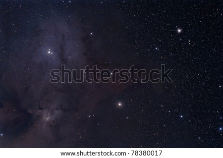 Rho Ophiuchi Nebula, IC 4604 - stock photo