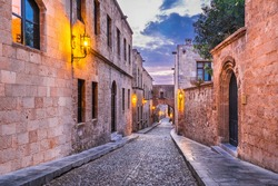 Rhodes, Greece. Avenue of the Knights (Ippoton), medieval place to the Knights Hospitaller who ruled #Rhodes