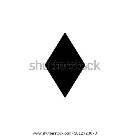 rhombus icon. Elements of Geometric figure icon for concept and web apps. Illustration  icon for website design and development, app development. Premium icon on white background
