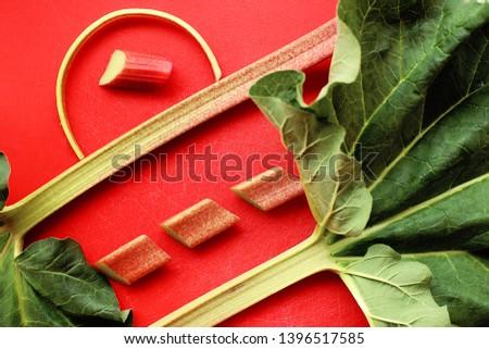 rhubarb. photo rhubarb, food useful vitamins