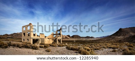 Rhyolte Nevada, An Abandoned Town Near Death Valley National Park