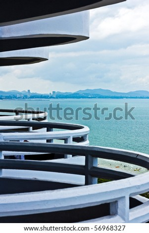 Rhythm of hotel's terrace in pattaya