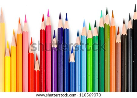 Rhythm of Pencil Color Background