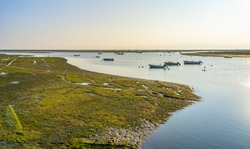 Ria Formosa Park, Algarve, Portugal. Famous for bird watching.