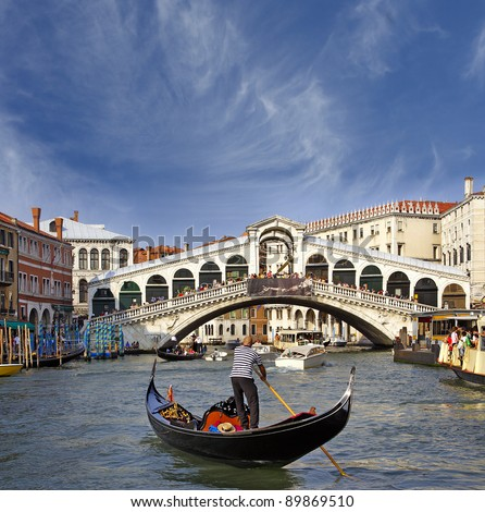 Rialto Bridge, Grand Canal, Venice, Italy - UNESCO World Heritage Site