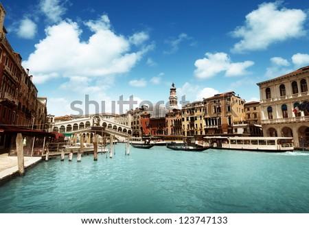 Rialto bridge in Venice, Italy #123747133