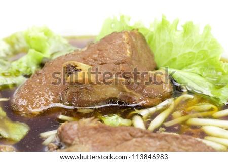 Rib pork noodle soup