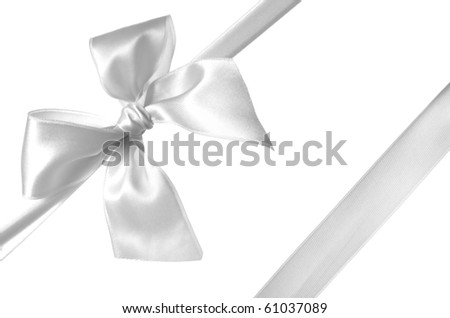 ribbon and bow isolated on white background
