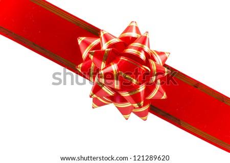 ribbon bow isolated on white background