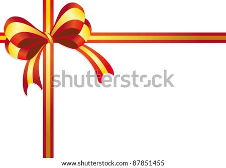 ribbon gift on a white background