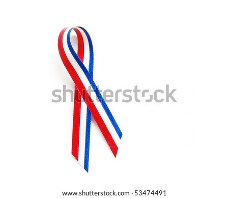 ribbon to remember the veterans - stock photo
