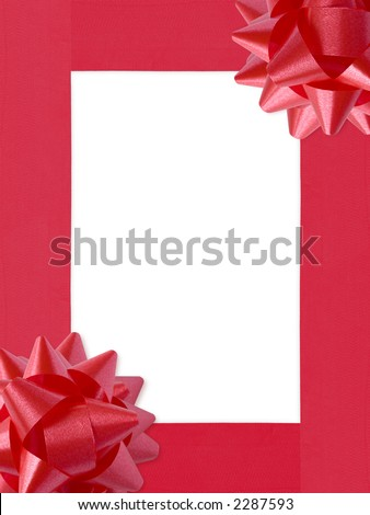 Ribbons&Bows Christmas Frame (with clipping path for easy background removing if needed)
