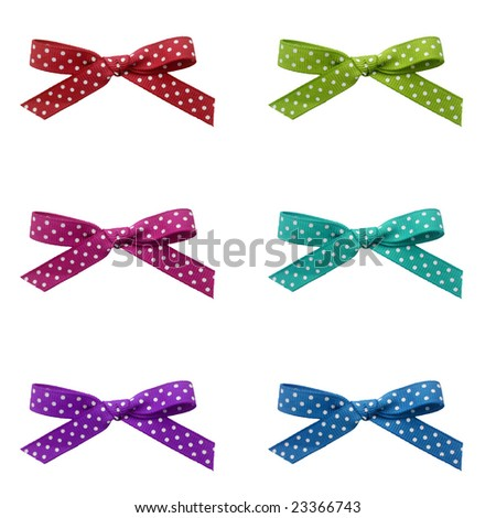 Ribbons with dots