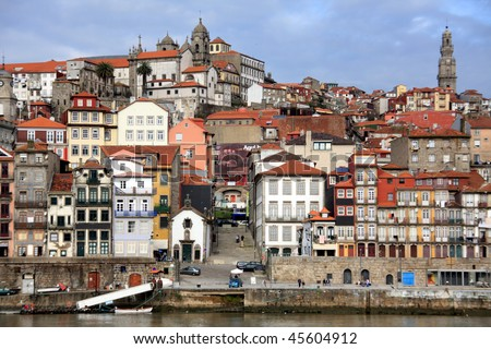 Ribeira houses, Porto city in Portugal