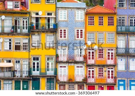 Ribeira, the old town of Porto, Portugal Stock foto ©