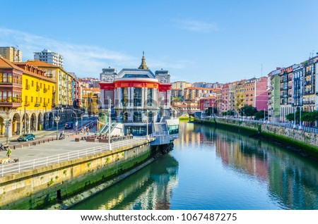 Ribera market in the spanish city Bilbao