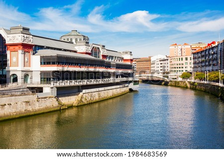 Ribera Market or Mercado de la Ribera is a food market located in Bilbao, capital of the Basque Province of Viscay in northern Spain Foto stock ©