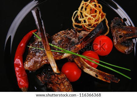 Newest: Grilled ribs and meat on bones