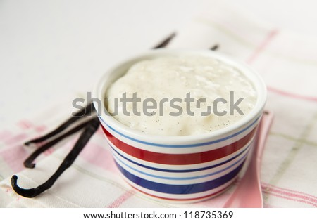 Rice and Vanilla Dairy Free Pudding with Real Beans
