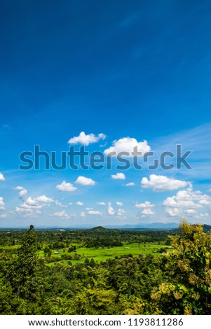 Rice field in Chiangmai province, Thailand. #1193811286