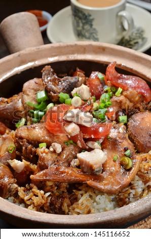 Rice Hot Pot - stock photo