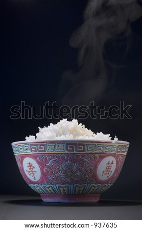 rice in a bowl - stock photo