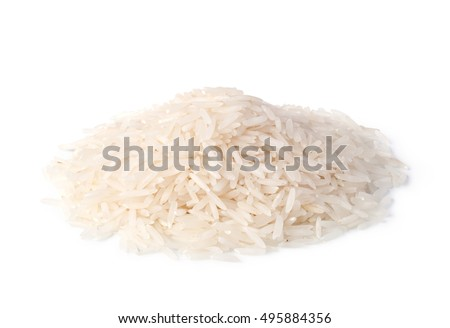 rice isolated on a white background #495884356