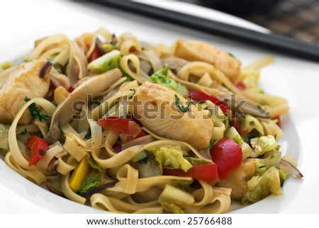 Rice noodles with fish
