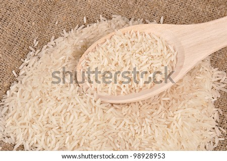 Rice on the canvas