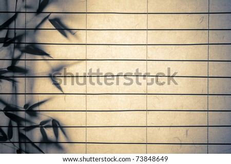rice paper background with bamboo leaves vintage look personal editing
