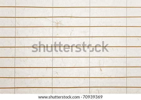 rice paper blinds with twigs of bamboo, backlit with nice paper texture - stock photo