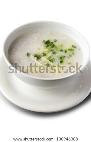 Rice Porridge in the Bowl