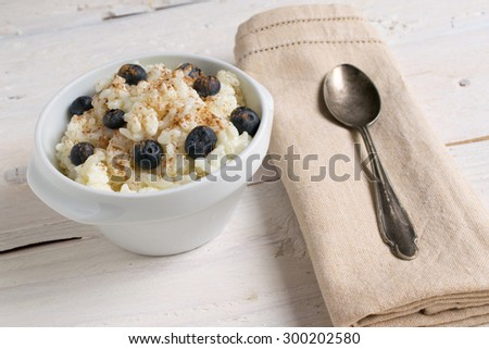 Rice pudding with fruits #300202580