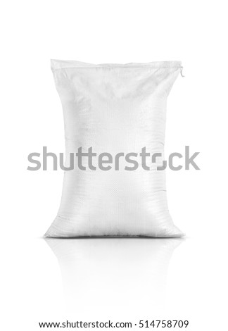 Shutterstock rice sack, sand bag, agriculture product isolated on white background